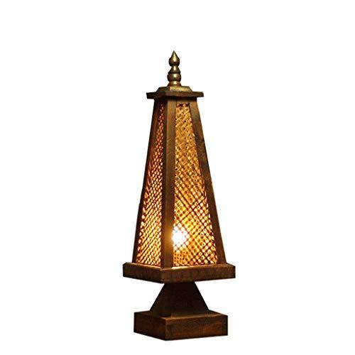 Home Kreativität-Tischlampe Schreibtisch Lampe Licht Südostasien Tischlampe Thailand Bambuslampe Schlafzimmer Nachttischlampe Antike Kreative Massivholz Tischlampe Beleuchtung E27 Tisch Schreibtisch