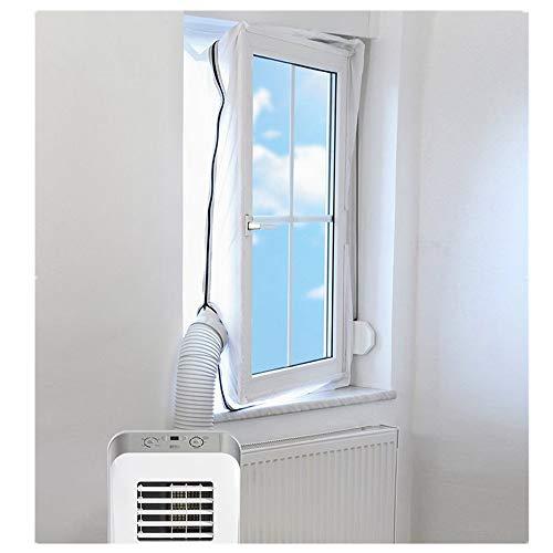 Finebuying Fensterabdichtung für Mobile Klimageräte Klimaanlagen Wäschetrockner und Ablufttrockner | Air Lock für Anbringen an Fenster Dachfenster Fensterabdichtung Klimaanlage (400 cm)
