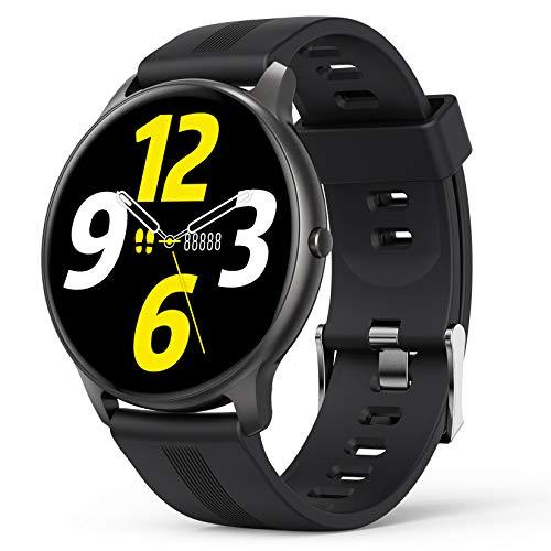 AGPTEK Smartwatch Uomo Orologio Fitness con 1.3' Full Touch, Impermeabile IP68, Cardiofrequenzimetro da Polso, Activity Tracker Sportivi Contapassi Controllo Musica Cronometro per Android iOS