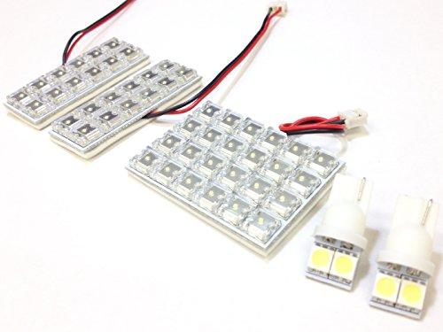 AMC フィット GE6,7,8,9,GP1 LEDルームランプセット ナンバー灯付き 白 Fit ハイブリッド対応 LED52連 GE系 GP5不可