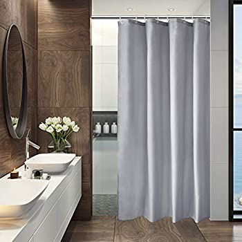 AooHome Fabric 48x72 Inch Small Shower Curtain Stall Size Bathroom Curtain for Hotel Waterproof Light Grey 48 Width x 72 Height Inch