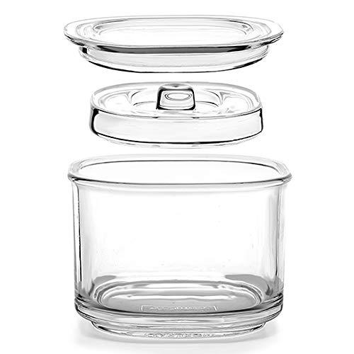 TAMUME 850 ml Gärglas Mehrzweck-Einmachglas mit Deckel für die Tägliche Gastgeschenk-Konservierung mit Breiter Öffnung