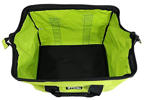 Green Wide Mouth Collapsible Genuine OEM Contractor's Bag w/Full Top Single Zipper Action and Cross X Stitching