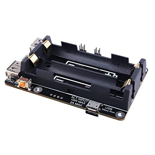 Raspberry Pi 4 USV Unterbrechungsfreie Stromversorgung USV HAT 18650 Backup Battery Power Supply Management Erweiterungskarte 5V für Raspberry Pi 4B 3B+ 3B