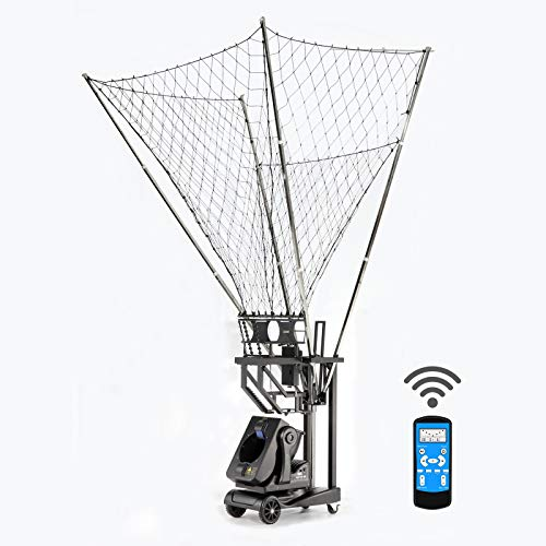 SIBOASI Sports K1900 Shooting Machine Basketball Rebounder, Automatic Basketball Return and Guard Net, Portable Basketball Drills Workout Training Equipment for Home, Schools, Facilities with Remote