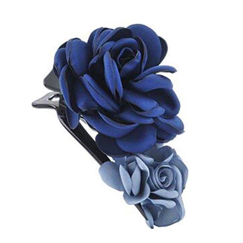 Mesdames Elegant Handmade cheveux clip Clip Clip de la fleur, la Marine