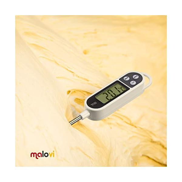 Termómetro electrónico de cocina de alta precisión, acero inoxidable, pantalla LCD digital – para alimentos y líquidos