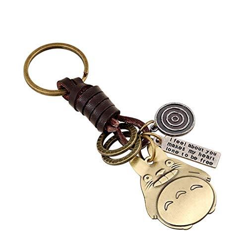 Sucolin Schlüsselanhänger Totoro Süß Tiere Keychains Metall Vintage