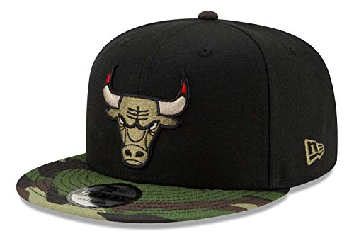 New Era - Gorra NBA Chicago Bulls All Star Game Camo 9Fifty Snapback - Negro Negro Talla única