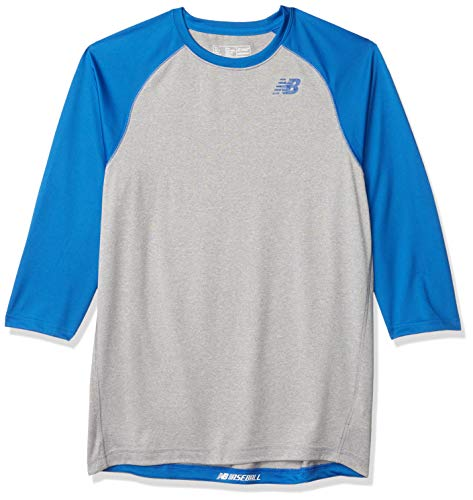New Balance Herren 3 Qtr Baseball Raglan Medium violett
