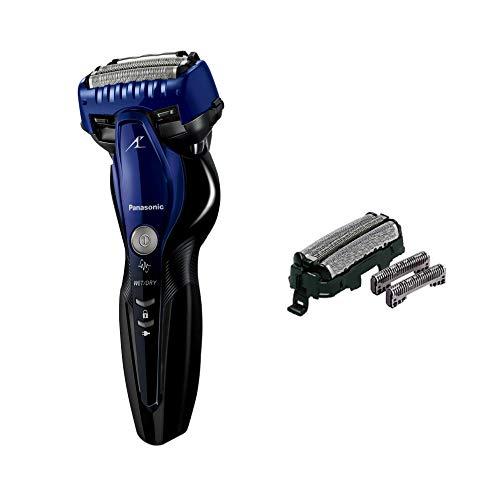 パナソニック ラムダッシュ メンズシェーバー 3枚刃 お風呂剃り可 青 ES-ST8S-A + 替刃セット