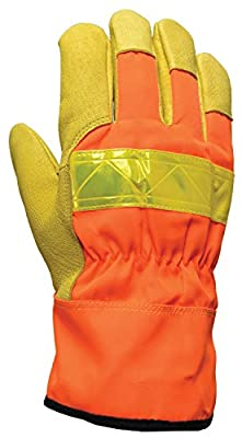 Bellingham C5565IL High-Visibility Leather Palm Construction Gloves