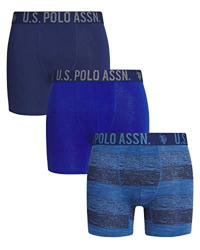 Mens 3 Pack Woven Boxers Asst 5 Polo Assn U.S