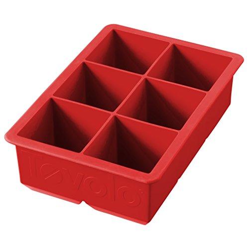 Fôrma Para Gelo King Cube Vermelha Tovolo