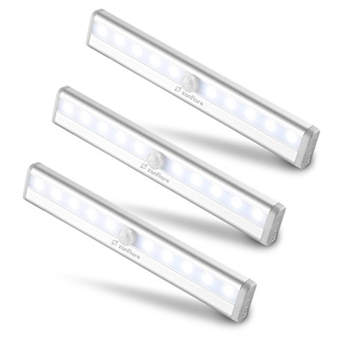 【Set di 3】Zanflare 10 LED Luce per Armadio a...
