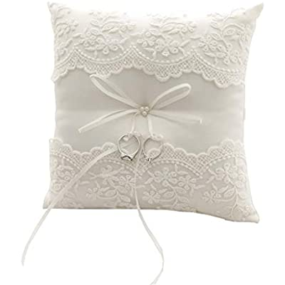 Ring bearer pillow, wedding ring dark