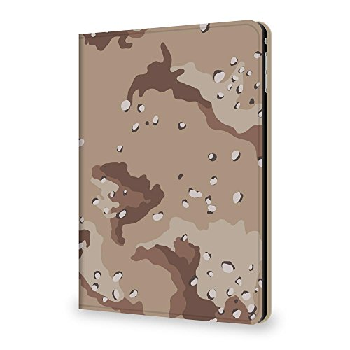 +S iPad mini4 7.9 ケース 迷彩柄 カモフラージュ チョコチップ PUレザー 三つ折スタンド mud0009-06