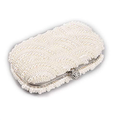 Vintage Zonnebril Koffer Reis Cosmetische Opbergtas Draagbare Parel Tas Bril Accessoires Doos Draagbare Bagagetas, Make-Up Voor Vrouwen Meisjes Dames,Beige