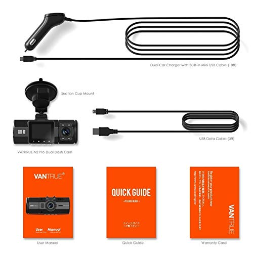 Vantrue N2 Pro Dual Dashcam full HD 1080P Auto Kamera - 9