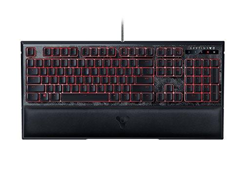 Razer Destiny 2 Ornata Chroma: Mecha-Membrane - Individually Backlit Mid-Height Keys - Leatherette Wrist Rest - Gaming Keyboard (Renewed)