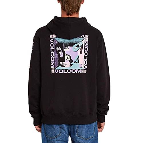 Volcom Freak City FA - Felpa con cappuccio, taglia XL, colore: Nero