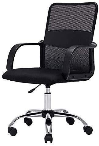 Silla de oficina Sillas de escritorio de oficina Asiento de rotación de 360 ° | Silla de oficina moderna con soporte lumbar | Asiento de malla ajustable duradero | Para oficina de escritorio de comp