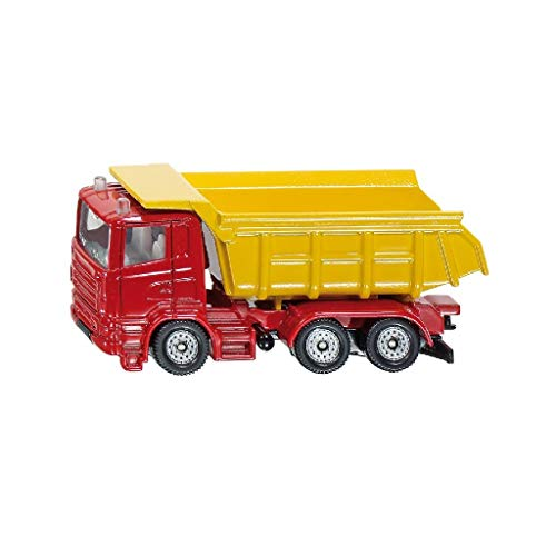 siku 1075, LKW mit Kippmulde, Metall/Kunststoff, Rot/Gelb, Kippbare Mulde