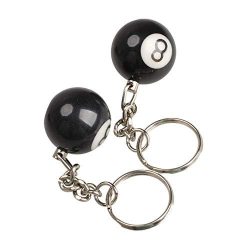 Vektenxi Schlüsselbund Kreative Schlüsselanhänger Kunststoff Billard 8 Anzahl Schlüsselanhänger Dekoration Freund 2 Stücke