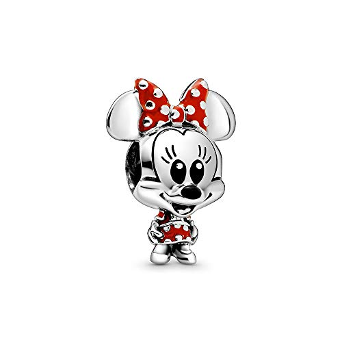 Pandora Disney Minnie Maus Gepunktetes Kleid und Schleife Charm
