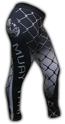 Calça de Compressão Termica Legging Feminina - 2463 Grade - Muay Thai -Preta - M