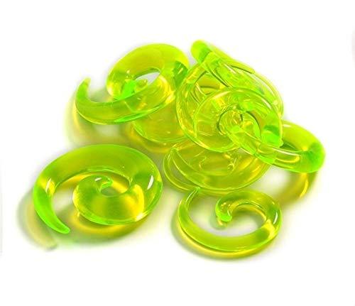YZRDY 12pcs Acrílico Espiral Enchufe De Oído Estrecha El Estiramiento De Las Formas Cónicas Oído De La Falsificación del Ampliador del Oído del Kit del Sistema De Túnel Accessories (Metal Color : A)
