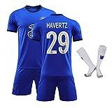 CHQTG 21-22 New Chelsea Home Soccer Jersey # 29 HāVěRTZ Atmungsaktives, schnell trocknendes Trikot Sportbekleidung Erwachsene -A_Large