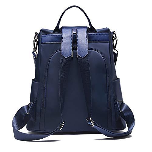 HROIJSL Damenmode einfarbig Rucksack Anti-Theft Bag Wild Umhängetasche wasserdicht Groß Reise Shopper Tasche Handtasche Schwarz Vintage Damen Schultasche Arbeitstasche Aktentasche Laptoptasche