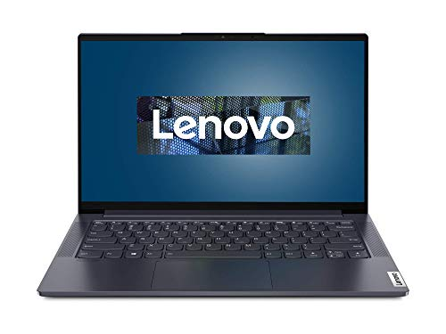 Lenovo Yoga Slim 7 Laptop 35,6 cm (14 Zoll, 1920x1080, Full HD, WideView, entspiegelt) EVO Slim Notebook (Intel Core i7-1165G7, 16GB RAM, 512GB SSD, Intel Iris Xe-Grafik, Windows 10 Home) grau