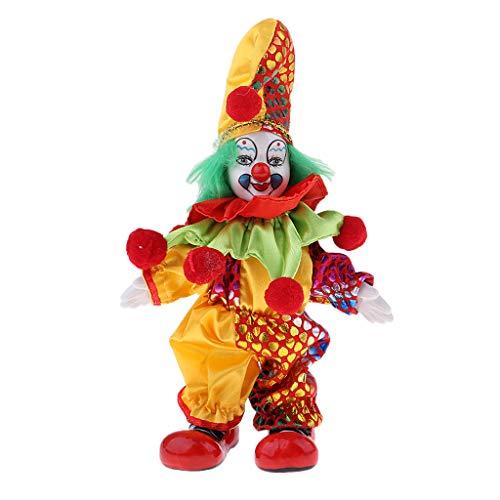 D DOLITY 6 Zoll Halloween Clown Puppen Stehende Clownmann Puppe Dekofigur, kreative Geschenke für Kinder und Erwachsene Sammlung - # 1