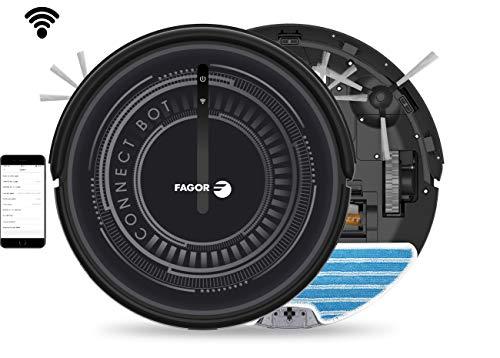 FAGOR FG2120, Aspirapolvere Robot Wi-Fi, Nero