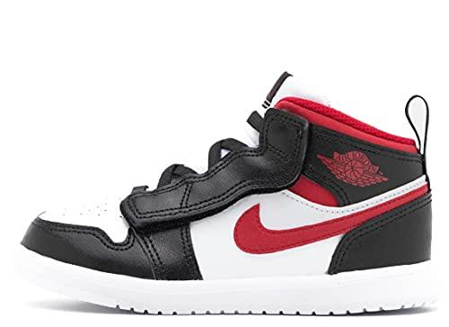 NIKE Infants Jordan 1 Mid ALT (TD) AR6353 122 Chaussures de sport Blanc/rouge/noir, Noir , 22 EU