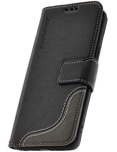 elephones® Handyhülle für Samsung Galaxy S9 Hülle - Kompatibel mit Galaxy S9 Schutzhülle Handy-Tasche Flip Case Cover Schwarz