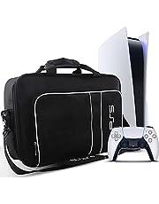 Borsa PS5, Borsa Trasporto PS5 per Sony PS5 Console Digital Edition/Edizione Regolare e Controller, Custodia Trasporto Protettiva per PlayStation 5, Controller, Schede di Gioco PS5, HDMI e Accessori