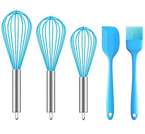Ouddy 5 Pack Silicone Whisk Set