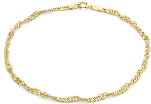 Carissima Gold Unisex 9 ct Yellow Gold Curb Chain Bracelet of Length 19 cm