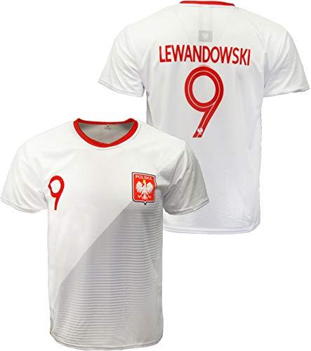 Sports Outlet Express Youth Polska Robert Lewandowski #9 Replica Polish Soccer Jersey 122 White
