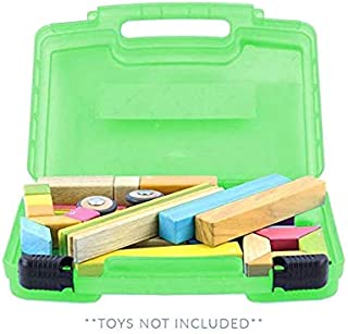 Life Made Better Blocks Case, Toy Storage Carrying Box. Figures Playset Organizer. Accessories for Kids by LMB