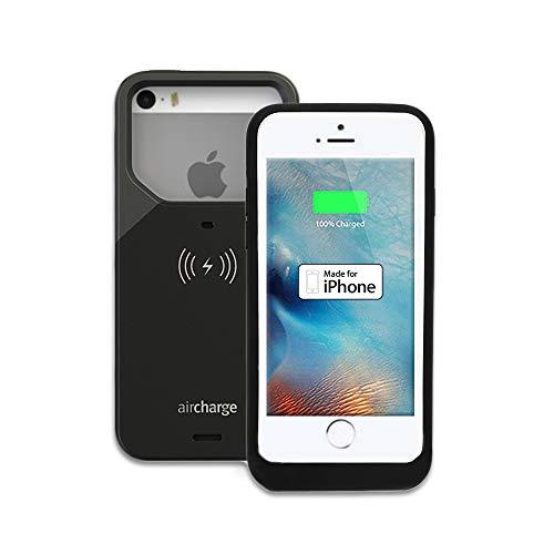 aircharge Carga inalámbrica Carcasa para iPhone 5y 5S, Color Negro