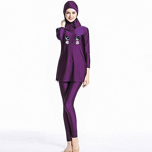 Mr Lin123 Muslime Bademode für Mädchen und Damen, Islamischer Badeanzug, Muslim, Sport, Schwimmen, Hijab Bademode Burqini, damen, violett, XS
