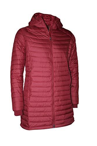 Columbia Women's White Out Mid Omni Heat Long Hooded Light Jacket Coat Puffer Plus/Regular (Beet, 2X)