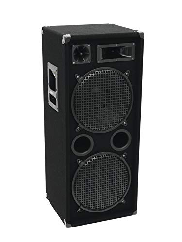 OMNITRONIC DX-2222 3-Wege Box 1000 W | Robuste Full-Range-Box mit 2x12