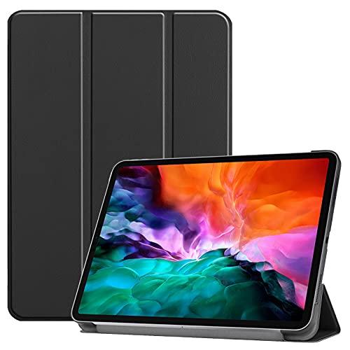 DWaybox Capa para Apple iPad Pro 12,9 polegadas 2021 12,9 polegadas (5ª geração), com função hibernar/despertar, capa protetora fina e leve para iPad Pro 12,9 polegadas 2021 Tablet Case com suporte – Preto