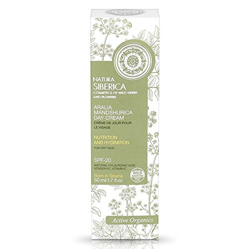 Natura Siberica Aralia Mandshurica Face Day Cream For Dry Skin 'Nutrition and Hydration' 50ml SPF-20