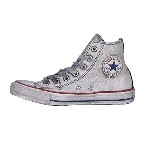 Converse, Unisex adulto, Chuck Taylor All Star Hi Canvas LTD Concrete Smoke In, Pelle, Sneakers, Grigio, 42.5 EU